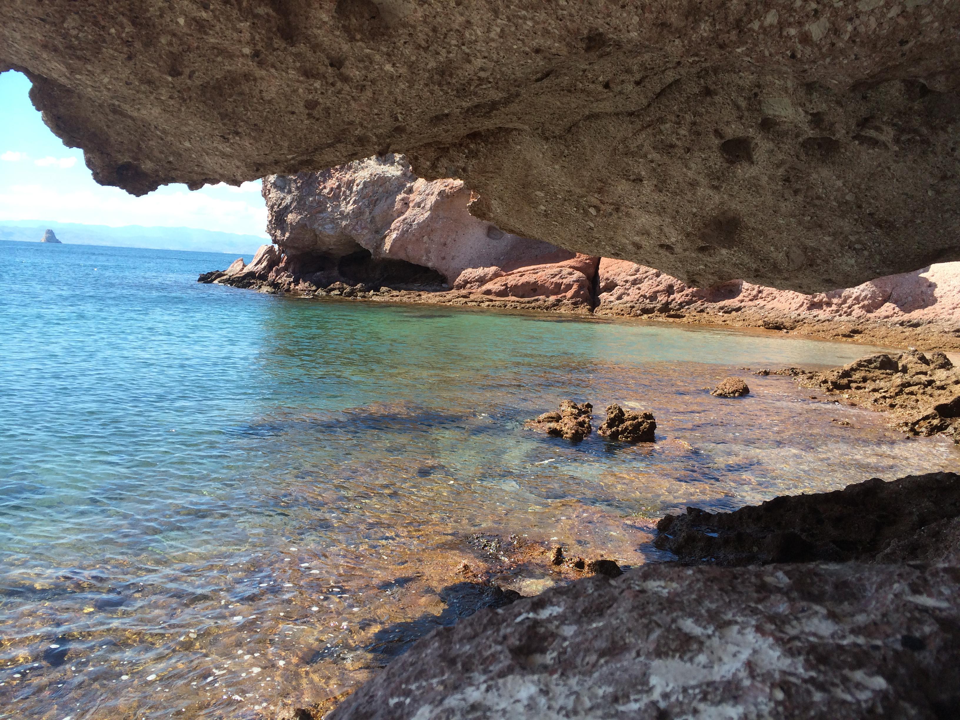 Isla Cave view Vela